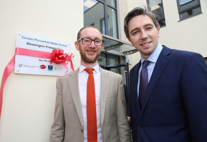 Kilian McGreal and Minister Simon Harris