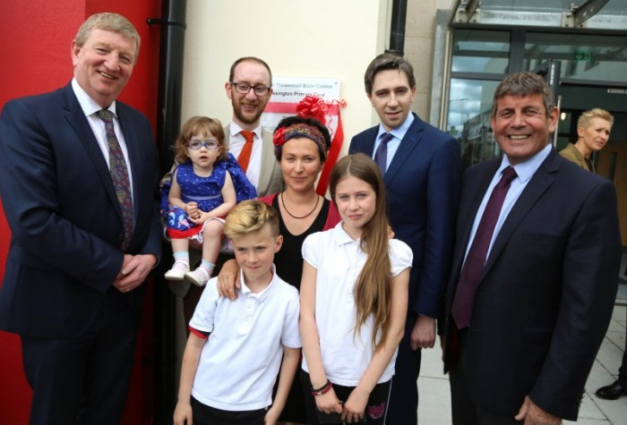 Deputy Pat Casey TD, Kilian McGreal and Family, Minister Simon Harris and Minister Andrew Doyle