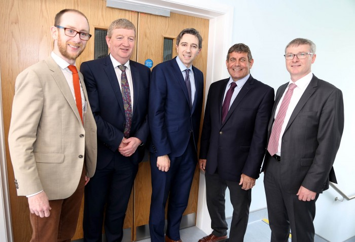 Kilian MCGreal MD McGreals Group, Deputy Pat Casey TD, Minister Simon Harris, Minister Andrew Doyle, Paul Reilly MD United Drug
